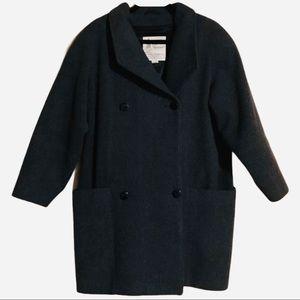 London Fog Grey Pure Virgin Wool Main Coat 12-M